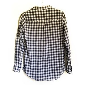 J. Crew Tops - J.Crew Navy Plaid Oxford